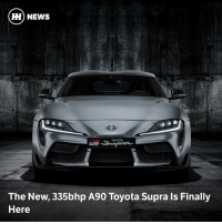 The A90 Toyota GR Supra has made its official debut at the Detroit Auto Show. . carthrottle carnews newsupra a90supra supra toyota jdm turbo boost bmw cargram carthrottlenews carsofinstagram: HH) NEWS  TOYOTA  The New, 335bhp A90 Toyota Supra Is Finally  Here The A90 Toyota GR Supra has made its official debut at the Detroit Auto Show. . carthrottle carnews newsupra a90supra supra toyota jdm turbo boost bmw cargram carthrottlenews carsofinstagram