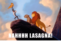 When Garfield joins the The Lion King remake. 🦁😹: HHHH LASAGNA! When Garfield joins the The Lion King remake. 🦁😹