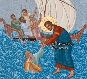 Funny, Jesus, and Memes: Hi Drowning  I'm Jesus Funny Memes Of The Day 25 Pics