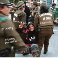 Anxiety, Depression, and Chile: hi  friend  CARABINa  overthi  DE CHILE  loneliness  anxiety  crippiling  depression