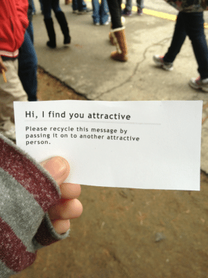 death-by-lulz:  My lovely followers, please follow this blog immediately! : Hi, I find you attractive  Please recycle this message by  passing it on to another attractive  person. death-by-lulz:  My lovely followers, please follow this blog immediately!