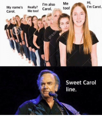 Apparently, Memes, and Fuck: Hi  I'm also  Me  I'm Carol  My name's  Really?  too!  Carol  Me too!  Carol.  Sweet Carol  line So apparently if I study when I'm tired I talk about human consumption instead of whatever the fuck I was actually supposed to be talking about