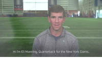 Eli Manning has been helping kids with pediatric cancer for years. The @Giants QB shares why he's so passionate about the cause. #CrucialCatch https://t.co/T4viRe23xd: Hi I'm Eli Manning, Quarterback for the New York Giants, Eli Manning has been helping kids with pediatric cancer for years. The @Giants QB shares why he's so passionate about the cause. #CrucialCatch https://t.co/T4viRe23xd