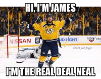 And also a Vegas Golden Knight. Calling it now, Vegas wins the Cup next year eh: HI IM JAMES  DRA  DIAGHT  AN  @nhl ref logic  RMTHE REAL DEAL NEAL And also a Vegas Golden Knight. Calling it now, Vegas wins the Cup next year eh