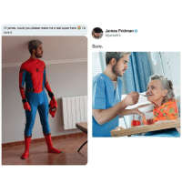 Real superhero via /r/wholesomememes https://ift.tt/2AjdYFf: Hi james, could you please make me a real super hero i'd  love it  James Fridman  @fjamie013  Sure. Real superhero via /r/wholesomememes https://ift.tt/2AjdYFf