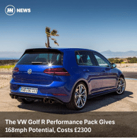 Via @carthrottlenews - VW has announced UK pricing and specs for the Golf R's Performance Pack, but it's missing stickier tyres: HI) NEWS  30  HOB G0 133  The VW Golf R Performance Pack Gives  168mph Potential, Costs £2300 Via @carthrottlenews - VW has announced UK pricing and specs for the Golf R's Performance Pack, but it's missing stickier tyres