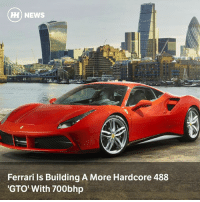 Ferrari, Memes, and News: HI) NEWS  Ferrari ls Building A More Hardcore 488  GTO' With 700bhp Via @carthrottlenews - According to reports, the flagship 488 could wear Ferrari's most prestigious performance badge as it goes after the bonkers-fast Porsche 911 GT2 and McLaren 720S