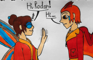 Tumblr, Lost, and Blog: Hi Rodan!  Ht... poshtearexdoodles:  I like to imagine that after Mothra reincarnates and comes back, she ends up being super nice to Rodan now that he's on the same side and she understands he was just following orders after he lost the fight with Ghids. This confuses Rodan cause he assumed Mothra would hate him after he fought her, and is also still a bit scared of her after *spoilers* she shanked him with her stinger.