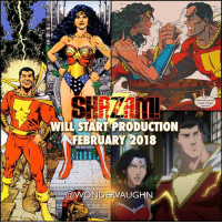 Memes, Prince, and Shazam: HI  WILL START PRODUCTION  NFEBRUARY 2018  aWONDERVAUGHN THE POWER OF S-H-A-Z-A-M-! * DC's Captain Marvel is scheduled to start production in February 2018. Now the DCEU needs to cast their hero SHAZAM and his younger alter ego BILLY BATSON. Any suggestions? * Fan page note: Although Bruce Wayne may seem like the logical choice, I feel @gal_gadot's Diana Prince should be the one who recruits all these characters, appearing in a small cameo in each film. *** mywonderwoman girlpower women femaleempowerment MulherMaravilha MujerMaravilla galgadot unitetheleague princessdiana dianaprince amazons amazonwarrior manofsteel thedarkknight