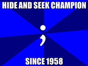 Be Like, Champion, and Hide: HIDE AND SEEK CHAMPION  SINCE 1958 It do be like that though
