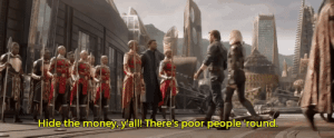 Energy, Gif, and Money: Hide the money.y'all!There's poor people round freshest-tittymilk:  pocmemes:  thatonerandomgaybitchimproved:  ruinedchildhood:   pocmemes:     Money Chadwick    This is the Monetary Prosperity T'ChallaLike to charge with secluded financial energyReblog for your bank account to have the stength of the Panther…