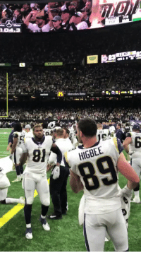 Memes, Superbowl, and 🤖: HIGBEE The moment the @RamsNFL secured their spot in the @SuperBowl. 🔥 #LARams  #NFLPlayoffs https://t.co/UIh16B3N6A