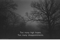High, Too, and  Too Many: high hopes,  Too many  Too many disappointments