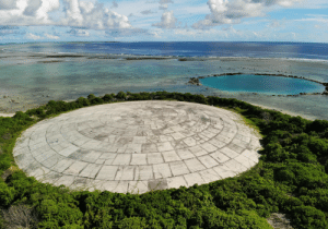"""High radiation levels found in giant clams of Marshall Islands near U.S. nuclear dump -- """"The Department of Energy has disclosed radioactive shellfish in a lagoon near Runit Dome, where the U.S. entombed waste from U.S. nuclear testing."""" Photo credit: Carolyn Cole / Los Angeles Times: High radiation levels found in giant clams of Marshall Islands near U.S. nuclear dump -- """"The Department of Energy has disclosed radioactive shellfish in a lagoon near Runit Dome, where the U.S. entombed waste from U.S. nuclear testing."""" Photo credit: Carolyn Cole / Los Angeles Times"""