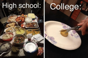 17 Pictures That Sum Up The Difference Between High School And College: High school: College: 17 Pictures That Sum Up The Difference Between High School And College