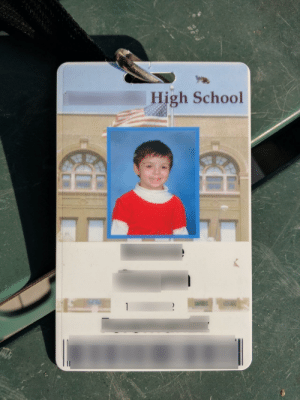 My daughter went to Preschool, then we homeschooled her for 9 years, and last week she started High School. Apparently for your student ID, they use the last photo on record.: High School My daughter went to Preschool, then we homeschooled her for 9 years, and last week she started High School. Apparently for your student ID, they use the last photo on record.