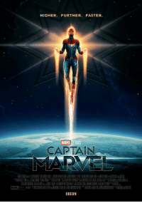 Target, Tumblr, and Blog: HIGHER. FURTHER. FASTER.  MARVEL STUDIOS  CAPTAIN  MARVEL  ODEON marvelheroes:New Captain Marvel (2019) Poster