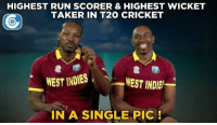 Two of the best Caribbean entertainers - Chris Gayle and Dwayne Bravo.: HIGHEST RUN SCORER & HIGHEST WICKET  TAKER IN T20 CRICKET  WEST INDIES  N  WEST INDIE  IN A SINGLE PIC Two of the best Caribbean entertainers - Chris Gayle and Dwayne Bravo.