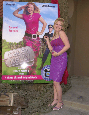 Disney, Friday, and Cool: Hilary Duff  Christy Romano  Too cool  for rules  Premfe  Friday, March 8  8pm/Tc  A Disney Channel Original Movie  Face the Obstacle Course Challenge a ZoogDisney.com  CHAN  ON