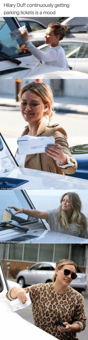 Duff: Hilary Duff continuously getting  parking tickets is a mood