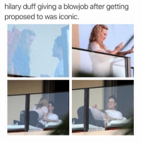 Blowjob, Duff, and Hilary Duff: hilary duff giving a blowjob after getting  proposed to was iconic. Iconic indeed
