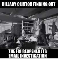 """To those who are under the impression that the FBI has reopened the investigation into Hillary Clinton to """"clear her"""", we disagree.   Our prediction is this development is an """"out"""" provided by a whistleblower to the Administration & DNC. If we are correct, Hillary has been thrown under the bus to protect the 'legacy of Obama'.: HILLARY CLINTON FINDING OUT  THE FBI REOPENEDITS  EMAILINVESTIGATION To those who are under the impression that the FBI has reopened the investigation into Hillary Clinton to """"clear her"""", we disagree.   Our prediction is this development is an """"out"""" provided by a whistleblower to the Administration & DNC. If we are correct, Hillary has been thrown under the bus to protect the 'legacy of Obama'."""