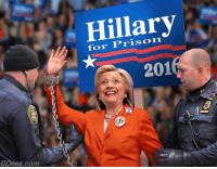 Memes, Prison, and 🤖: Hillary  for Prison  201  cfr  ctr  DDees.com