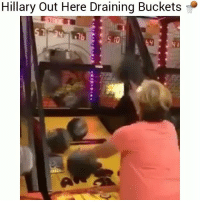 Funny, Hillary, and Making: Hillary Out Here Draining Buckets  10 Hillary out here making buckets 😂