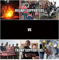 smh...: HILLARY SUPPORTERS  VS  TRUMP SUPPORTERS smh...