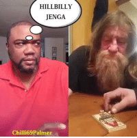 Memes, Videos, and Smile: HILLBILLY  JENGA  Chilli69 Palmer #NoChill  #Chilli69Palmer  #SilentlyHilarious #HillbillyJenga  (Daily Vids:  11am, 3pm and 7pm)  [Video Credit: Smile Sumo]
