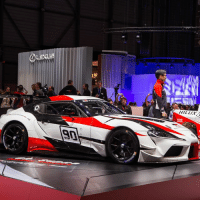 Memes, News, and Time: HILLIA  9n This is the GR Supra Racing Concept, what do you think? It's the first time we've seen the Supra up close and it finally confirms Toyota's revival of the famous model name. We'll have all the news from Geneva over the coming days so make sure you stay tuned!