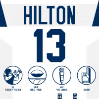 Almost 200 yards for @TYHilton13! #HaveADay #Colts  #INDvsHOU https://t.co/bilMghSoEb: HILTON  13  9  RECEPTIONS  199  REC YDS  60  YD LONG  WIN!  WK  WK  14 Almost 200 yards for @TYHilton13! #HaveADay #Colts  #INDvsHOU https://t.co/bilMghSoEb