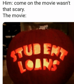 God, Reddit, and Loans: Him: come on the movie wasn't  that scary  The movie:  EN  LOANS Oh god please no