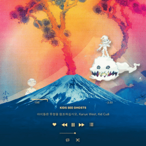 hiphopmemes:  KIDS SEE GHOSTS as an Apple Music Player design: hiphopmemes:  KIDS SEE GHOSTS as an Apple Music Player design