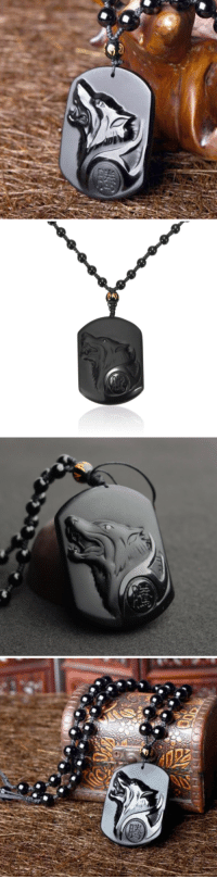 Family, Friends, and Life: hippieoftheforest: saltycaffeine:  Made of real, premium Obsidian. One-of-a-kind Necklace that you would not see in stores. This Wolf Amulet will make a Great Gift for your Friends and Family! ***USE COUPON CODE: WOLF FOR A DISCOUNT*** – GET IT HERE –   Where has this been my whole life?! NEED