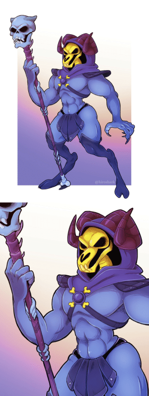 not-a-comedian:  Been wanting to do some He-man designs for a while, here's a Skeletor with a skullswap between his head and his staff. Might explore more later 💀: @hiroshark not-a-comedian:  Been wanting to do some He-man designs for a while, here's a Skeletor with a skullswap between his head and his staff. Might explore more later 💀