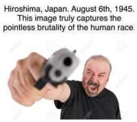 Image, Japan, and Race: Hiroshima, Japan. August 6th, 1945.  This image truly captures the  pointless brutality of the human race. https://t.co/vAbr4HgJ4u
