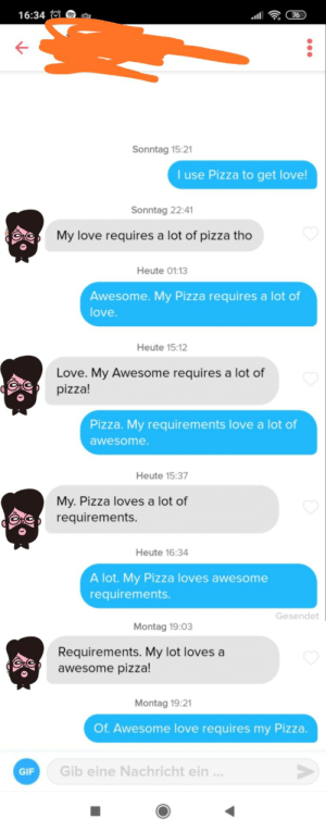 "His bio said: ""Men use love to get sex. Women use sex to get love. Me? I use coupons to get pizza."" This is one of the best conversations I ever had on Tinder!: His bio said: ""Men use love to get sex. Women use sex to get love. Me? I use coupons to get pizza."" This is one of the best conversations I ever had on Tinder!"
