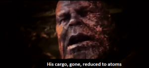 When the grinder nerd doesn't see you in your facility and he starts selling cargo: His cargo, gone, reduced to atoms When the grinder nerd doesn't see you in your facility and he starts selling cargo