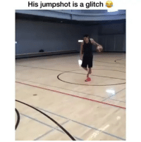 Funny, Lmao, and Shit: His jumpshot is a glitch This some 2k shit lmao