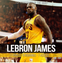 @kingjames was too much for the @atlhawks tonight in the @cavs' Game 4 win NeverSettle: HIS  LEBRON JAMES  23 POINTS g REBOUNDS ASSISTS @kingjames was too much for the @atlhawks tonight in the @cavs' Game 4 win NeverSettle