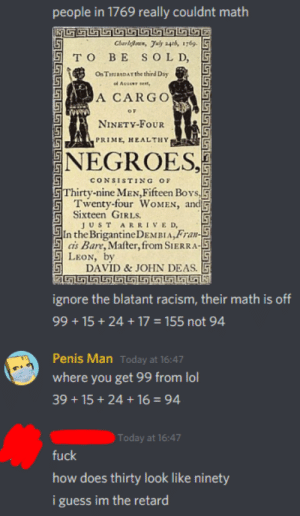 His math is on point ( NSFW coz racism? ): His math is on point ( NSFW coz racism? )