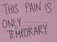 To From: HIS PAIN IS  ONEY  TEMPORARY  To  From