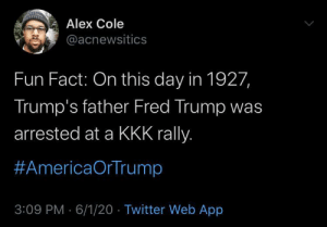 His ties to white supremacy are deep-rooted: His ties to white supremacy are deep-rooted