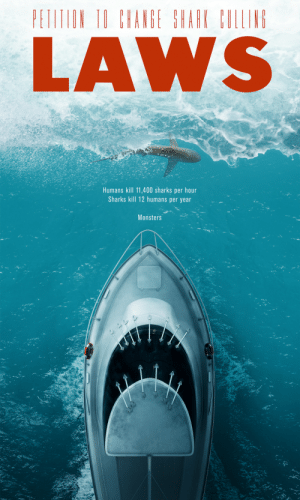 hisnamewasbeanni: ravenworks:  ronworkman:  Shark Culling Laws Poster Designed by Matteo Musci    that is a great-ass design  EXCELLENT designfor anEXCELLENT message : hisnamewasbeanni: ravenworks:  ronworkman:  Shark Culling Laws Poster Designed by Matteo Musci    that is a great-ass design  EXCELLENT designfor anEXCELLENT message