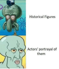 History: Historical Figures  Actors' portrayal of  them