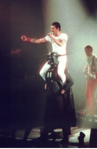 Darth Vader, Tumblr, and Blog: historium: Freddie Mercury riding Darth Vader - August 1980