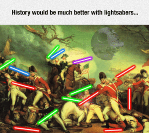 Tumblr, Blog, and History: History would be much better with lightsabers... lolzandtrollz:  Much Better Now