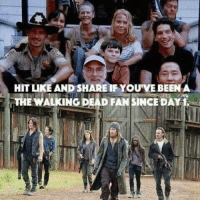 memes: HIT LIKE AND SHARE IF YOU VE BEEN A  THE WALKING DEAD FANSINCEDAY