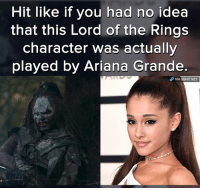 Lord of the Rings: Hit like if you had no idea  that this Lord of the Rings  character was actually  played by Ariana Grande  dP VIA 8sHIT NET